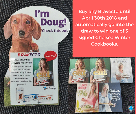 WIN 1 Of 5 Signed Chelsea Winter Cookbooks With Bravecto
