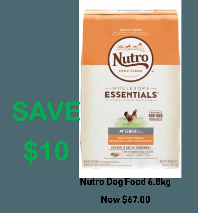 NUTRO DOG 6.8KG – SAVE $10 Now $67.00