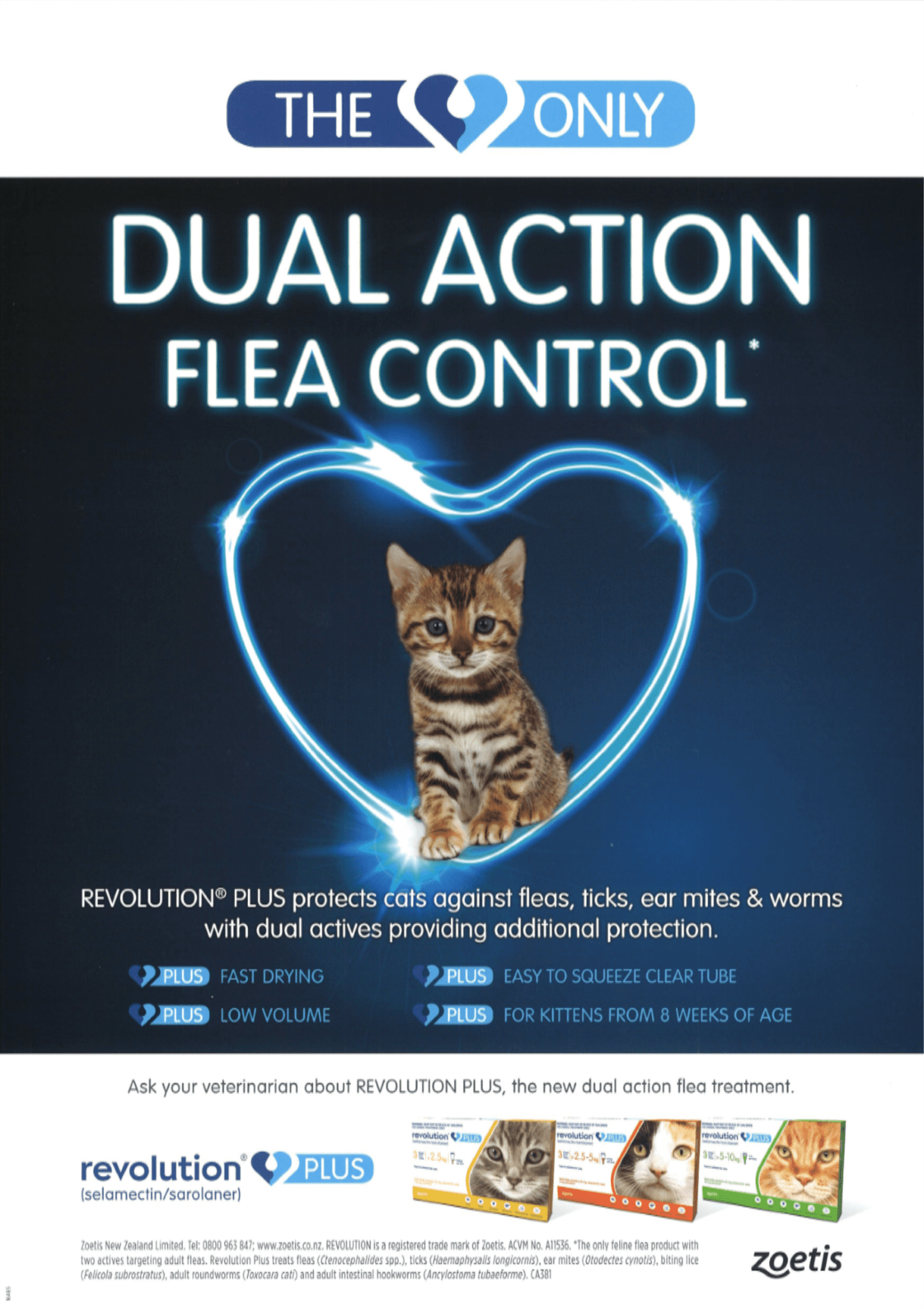 NEW PRODUCT ALERT – Revolution Plus For Cats