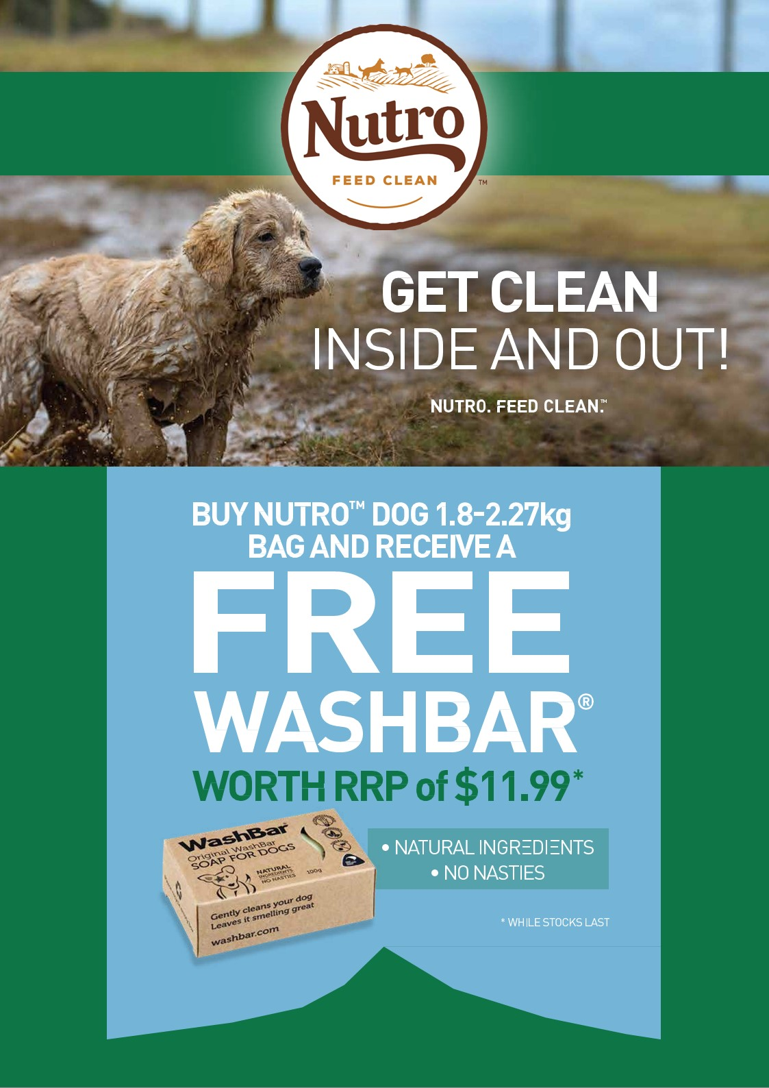 Free Washbar With Nutro 1.8kg – 2.72kg