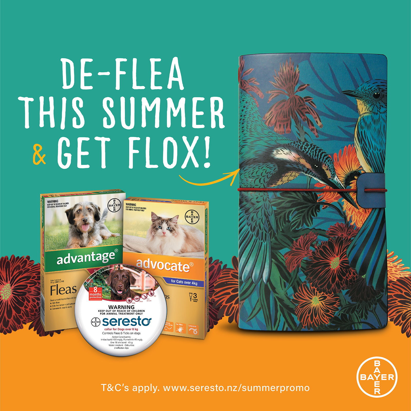 Free Flox Notebook When You Purchase Bayer Flea Products!