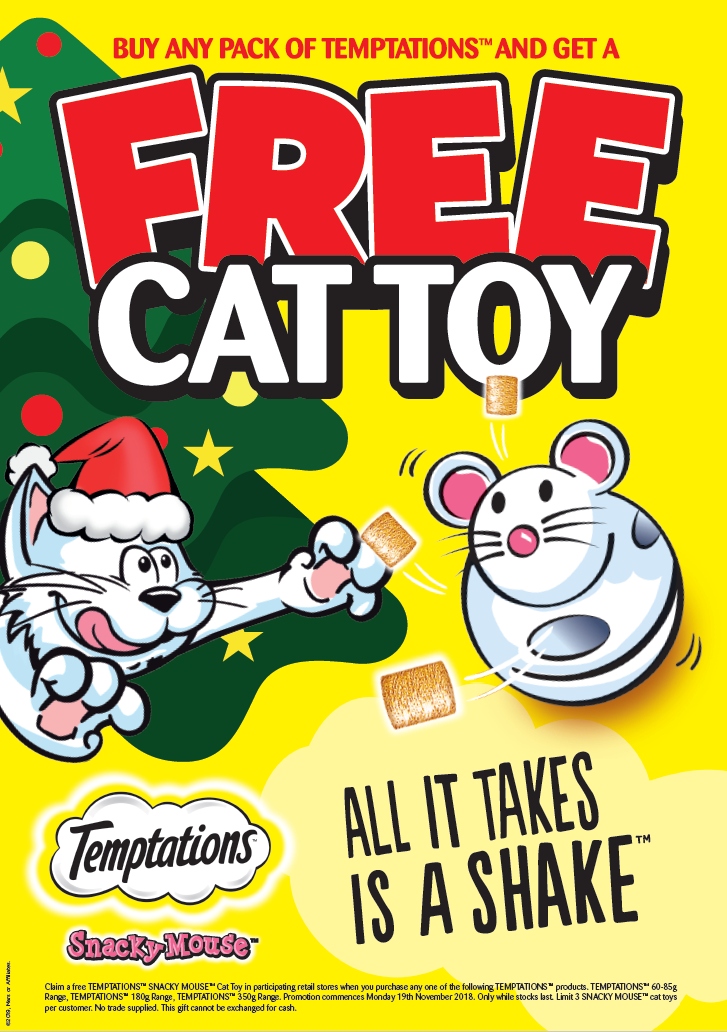 Free Cat Toy With Temptations!