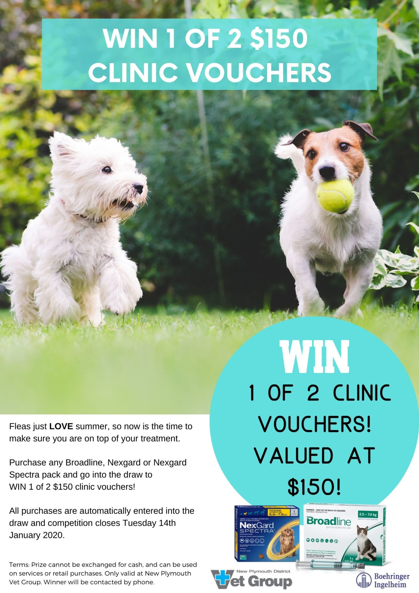 Win 1 Of 2 $150 Clinic Vouchers!
