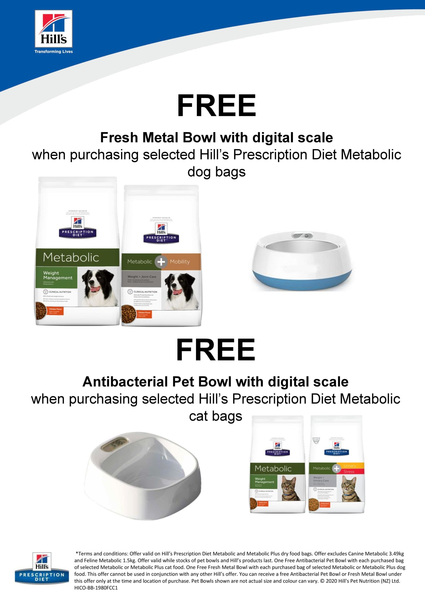 Free Metal Bowl With Digital Scales With Selected Hills Metabolic!