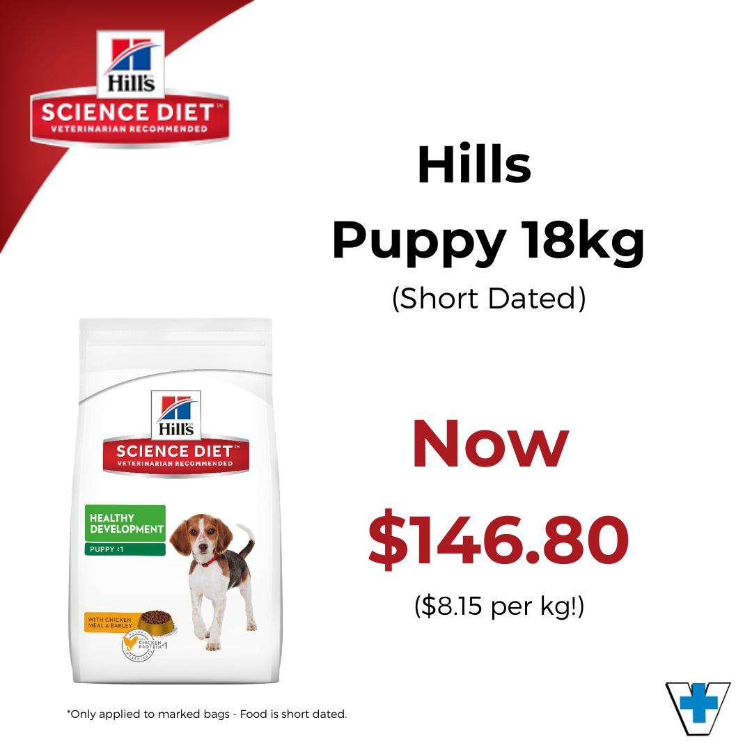 Hills Puppy 18kg – $146.80