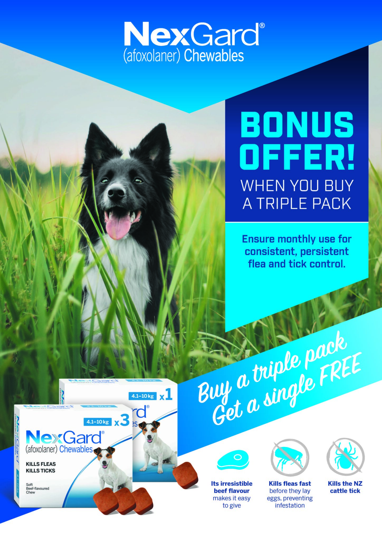 BONUS OFFER – Purchase Nexgard 3 Pack And Get A Single FREE!